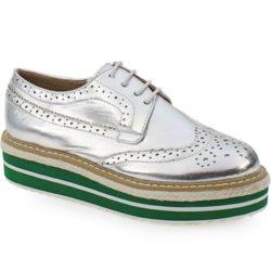 Προσφορά από το Inshoes σε InShoes  - Γυναικεία loafers σε μεταλλικές αποχρώσεις Ασημί Δερματίνη - DealFinder.gr