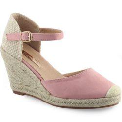 Προσφορά από το Inshoes σε InShoes  - Γυναικείες πλατφόρμες με εσπαντρίγια στη σόλα Ροζ Συνθετικό Καστόρι - DealFinder.gr