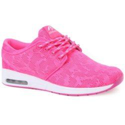 Προσφορά από το Inshoes σε InShoes  - Γυναικεία αθλητικά με αερόσολα και δίχρωμα κορδόνια Φούξια Ύφασμα - DealFinder.gr