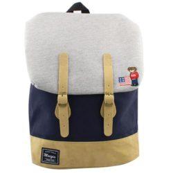 Προσφορά από το Inshoes σε InShoes  - Ανδρικά σακίδια πλάτης με κάθετα λουριά και λογότυπο Μπλε Ύφασμα - DealFinder.gr