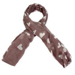 Προσφορά από το Inshoes σε InShoes  - Πασμίνες με καρδούλες Ροζ 100% Viscose - DealFinder.gr