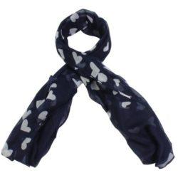Προσφορά από το Inshoes σε InShoes  - Πασμίνες με καρδούλες Μπλε 100% Viscose - DealFinder.gr