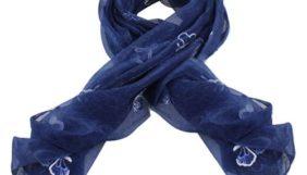 Προσφορά από το Inshoes σε InShoes  - Πασμίνες με κέντημα από πεταλούδες Μπλε 20% Silk - 80% Viscose - DealFinder.gr
