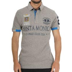 Προσφορά από το Heaven of Brands σε Santa Monica Polo Club  - Santa Monica Stead Polo Shirt Plus M ( M707692-PLS-GRE ) - DealFinder.gr
