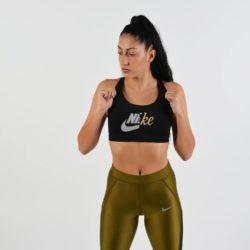 Προσφορά από το Cosmossport σε Nike  - Nike Swoosh Futura Bra - Γυναικείο Μπουστάκι - DealFinder.gr