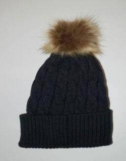 Προσφορά από το Permiadonna σε Per Mia Donna  - Πλεκτό γυναικείο σκουφάκι μαύρο με fleece επένδυση - DealFinder.gr