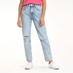 Προσφορά από το Cosmossport σε Tommy Jeans  - Tommy High Rise Cropped Izzy Jeans - Γυναικείο Τζιν - DealFinder.gr