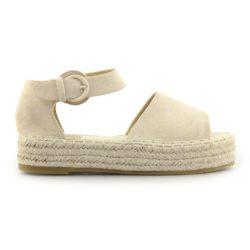 Προσφορά από το Inshoes σε InShoes  - Γυναικείες εσπαντρίγιες peep toe με μπαρέτα Μπεζ - DealFinder.gr
