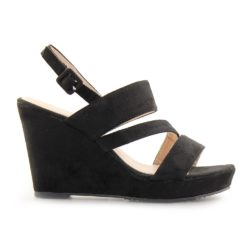Προσφορά από το Inshoes σε InShoes  - Γυναικείες πλατφόρμες με λουράκια Μαύρο - DealFinder.gr