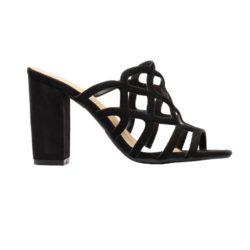 Προσφορά από το Inshoes σε InShoes  - Γυναικεία mules μονόχρωμα Μαύρο - DealFinder.gr