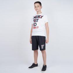 Προσφορά από το Cosmossport σε Target  - Target Παιδικο Σετ T-Shirt Βερμουδα ''Ready Set Go (9000053618_45893) - DealFinder.gr