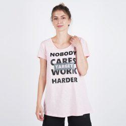 """Προσφορά από το Cosmossport σε Target  - Target T Shirt Maκρυ Καλτσα Φλαμα """"Work Harder"""" (9000053645_45892) - DealFinder.gr"""