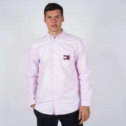 Προσφορά από το Cosmossport σε Tommy Jeans  - Tommy Jeans Oxford Badge Men's Shirt (9000050948_45064) - DealFinder.gr