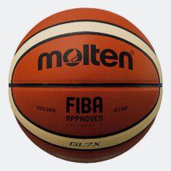 Προσφορά από το Cosmossport σε Molten  - Molten Genuine Leather Μπάλα Μπάσκετ Εσωτερικού No.7 (9000021338_30683) - DealFinder.gr