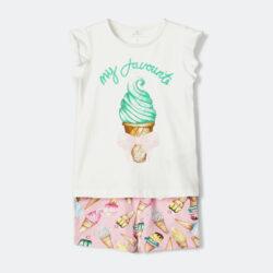 Προσφορά από το Cosmossport σε Name it  - Name it Ice Cream Print Infants Shorts-Set (9000048312_36089) - DealFinder.gr