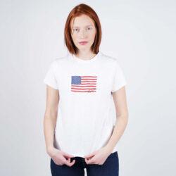 Προσφορά από το Cosmossport σε Polo Ralph Lauren  - Polo Ralph Lauren Navy Flag Women's T-Shirt (9000050515_1539) - DealFinder.gr