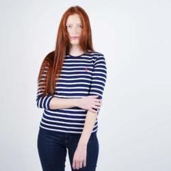 Προσφορά από το Cosmossport σε Polo Ralph Lauren  - Polo Ralph Lauren Stripe 3/4 SLeeve Knitted Top (9000050500_44942) - DealFinder.gr