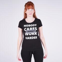 """Προσφορά από το Cosmossport σε Target  - Target T Shirt K/M Καλτσα Φλαμα """"Work Harder"""" Γυναικεία Μπλούζα (9000053644_001) - DealFinder.gr"""