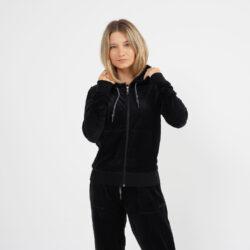 Προσφορά από το Cosmossport σε BODY ACTION  - Body Action Women Velour Hoodie Jacket (9000064115_1899) - DealFinder.gr
