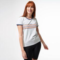 Προσφορά από το Cosmossport σε Basehit  - Basehit Stripes Γυναικεία Μπλούζα (9000050865_45115) - DealFinder.gr
