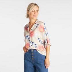 Προσφορά από το Cosmossport σε Lee  - Lee Women'S Floral Resort Shirt (9000049970_6212) - DealFinder.gr