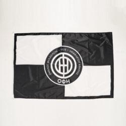 Προσφορά από το Cosmossport σε OFI OFFICIAL BRAND  - OFI OFFICIAL BRAND Σημαία 85x130 black-white squar (9000065775_1480) - DealFinder.gr