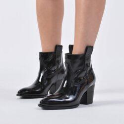 Προσφορά από το Cosmossport σε Tommy Jeans  - Tommy Jeans Patent Leather Mid Heel Boot (9000039771_1469) - DealFinder.gr