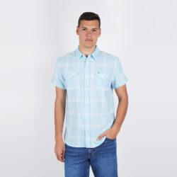 Προσφορά από το Cosmossport σε Wrangler  - Wrangler Men's Short SLeeve 2 Pkt Flap Shirt (9000049806_26647) - DealFinder.gr
