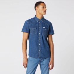 Προσφορά από το Cosmossport σε Wrangler  - Wrangler Men'S Short SLeeve Western Shirt (9000049804_3098) - DealFinder.gr