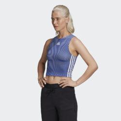 Προσφορά από το Cosmossport σε adidas Performance  - adidas Performance Zippable Ribbed Γυναικείο Αμάνικο Τοπ (9000058332_43431) - DealFinder.gr