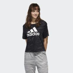 Προσφορά από το Cosmossport σε adidas Performance  - adidas Essentials Allover Print Γυναικείο T-shirt (9000058240_1480) - DealFinder.gr