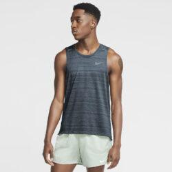 Προσφορά από το Cosmossport σε Nike  - Nike Tank Dri-Fit Miler Ανδρική Μπλούζα για Τρέξιμο (9000055186_46376) - DealFinder.gr
