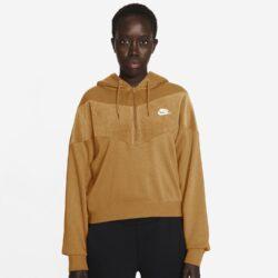 Προσφορά από το Cosmossport σε Nike  - Nike Sportswear Heritage Βελουτέ Γυναικείο Φούτερ (9000056676_46910) - DealFinder.gr