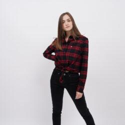 Προσφορά από το Cosmossport σε Tommy Jeans  - Tommy Jeans Check Front Knot Shirt Γυναικείο Πουκάμισο (9000065151_49149) - DealFinder.gr