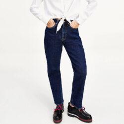 Προσφορά από το Cosmossport σε Tommy Jeans  - Tommy Jeans Harper High Rise Straight Γυναικείο Jeans (9000065203_49138) - DealFinder.gr