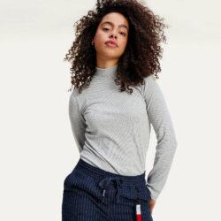 Προσφορά από το Cosmossport σε Tommy Jeans  - Tommy Jeans Rib Γυναικεία Ζιβάγκο Μακρυμάνικη Μπλούζα (9000065194_49132) - DealFinder.gr