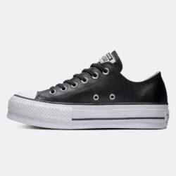 Προσφορά από το Cosmossport σε converse  - Converse Chuck Taylor All Star Clean Leather Γυναικεία Platform Παπούτσια (9000017353_35470) - DealFinder.gr