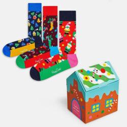 Προσφορά από το Cosmossport σε Happy Socks  - Happy Socks 3-Pack Holiday Κάλτσες Gift Set (9000065950_2074) - DealFinder.gr