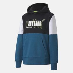 Προσφορά από το Cosmossport σε puma  - Puma Alpha Color Block Παιδική Μπλούζα με Κουκούλα (9000071449_51086) - DealFinder.gr