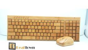 Προσφορά Deal από το Dealtown - 54.90€ για ένα σετ πληκτρολογίου και ποντικιού κατασκευασμένο από ξύλο Μπαμπού. Ευφάνταστη κατασκευή που θα δώσει άλλη ομορφιά στο γραφείο σας και με δωρεάν αποστολή των προϊόντων στην Αθήνα! - DealFinder.gr