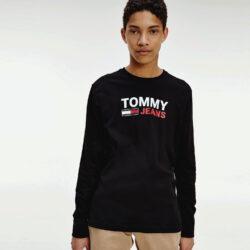 Προσφορά από το Cosmossport σε Tommy Jeans  - Tommy Jeans Logo Ανδρική Μακρυμάνικη Μπλούζα (9000065120_1469) - DealFinder.gr