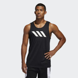 Προσφορά από το Cosmossport σε adidas Performance  - adidas Performance Sport 3-Stripes Men's Tank Top (9000044974_1469) - DealFinder.gr