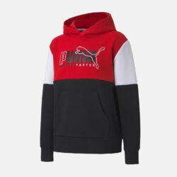 Προσφορά από το Cosmossport σε puma  - Puma Alpha Color Block Παιδική Μπλούζα με Κουκούλα (9000071436_51087) - DealFinder.gr